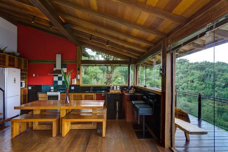 Dise o de casa de campo planos interior y fachadas for Cocinas casas rurales