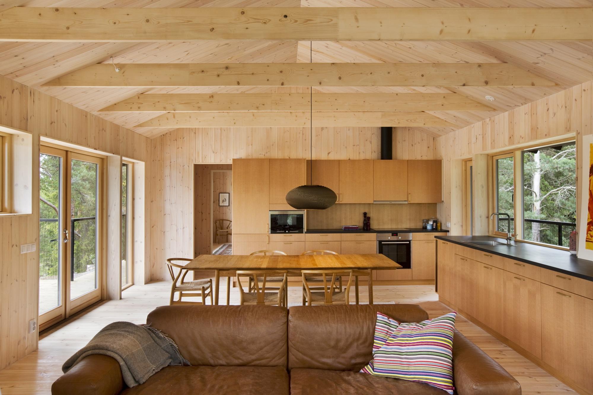 Dise o de casa peque a de madera fachada planos interior for Diseno de interiores de casas pequenas modernas