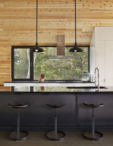 Diseño de cocina en casa granero