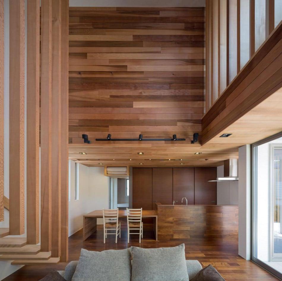 Dise o de moderna casa de dos plantas con planos de for Diseno de piletas de hormigon