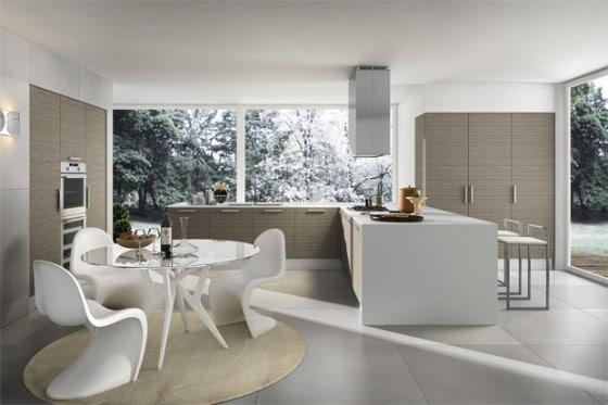 Diseño de cocina moderna, elegante y practica