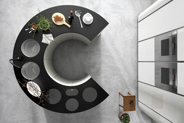 Dise o de cocinas elegantes combina l neas simples en for Suspension de cocina moderna