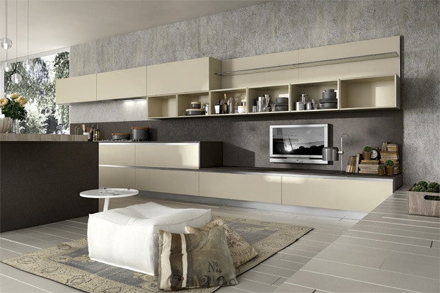 Dise o de cocinas elegantes combina l neas simples en for Casa moderna tunisie
