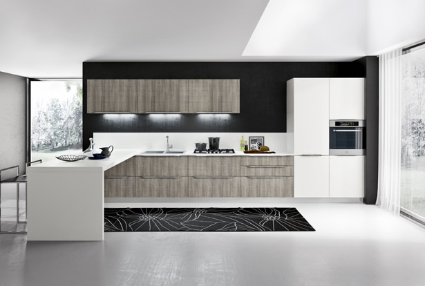 Dise o de cocinas modernas modelos simples y elegantes for Fotos de cocinas modernas 2015