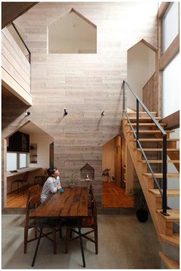 Diseño de comedor de madera