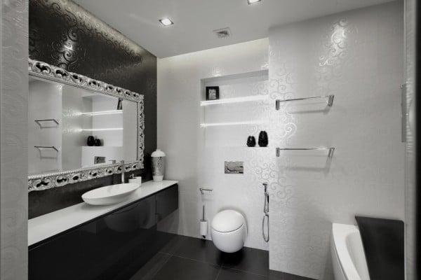 diseño de moderno apartamento en color blanco y negro | construye