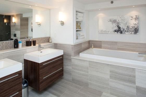Diseño de cuarto de baño de apartamento