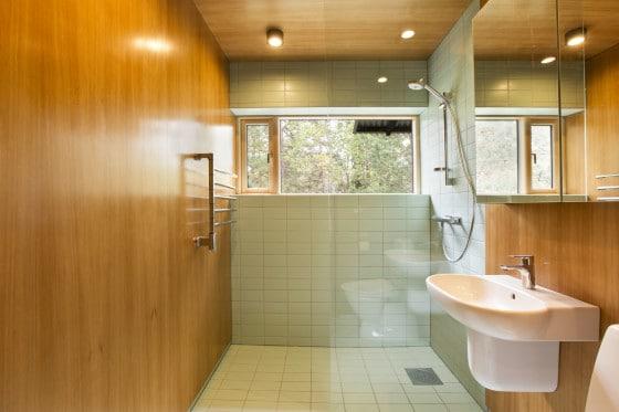 Diseño de cuarto de baño de madera