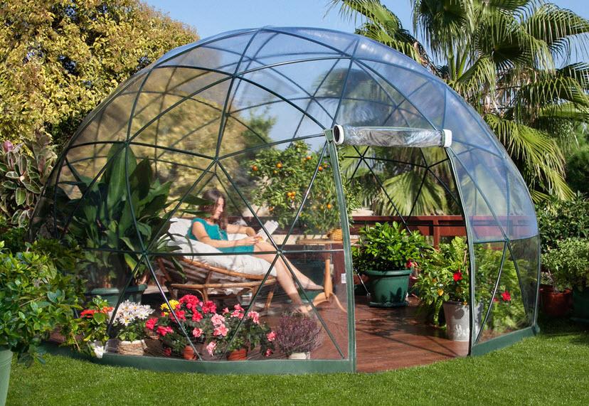 Dise o de domo para terraza o jard n de casas fotos y for Disenos de jardin de invierno