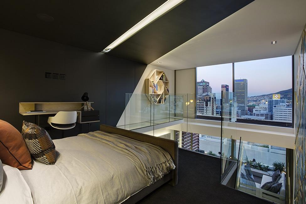 Dise o de minidepartamento moderno interiores elegante for Decoracion para minidepartamentos