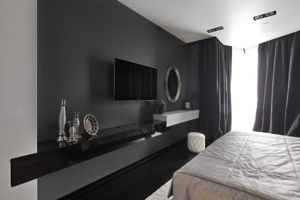Dise 241 O De Moderno Apartamento En Color Blanco Y Negro Construye Hogar