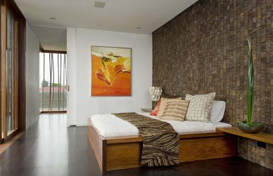 Decoración de dormitorio rústico