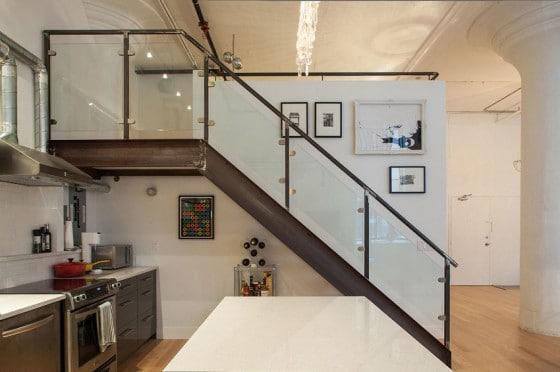 Diseño de escalera de departamento