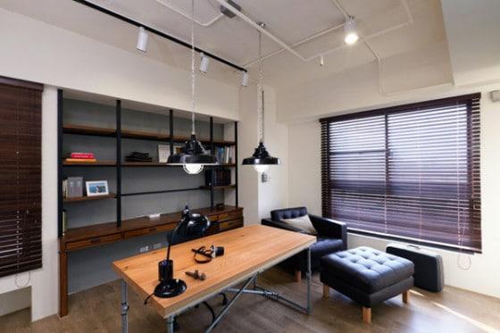 Diseño de estudio estilo industrial