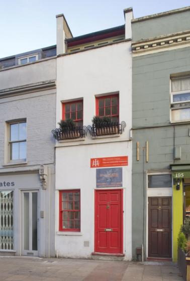 Diseño de fachada de casa angosta