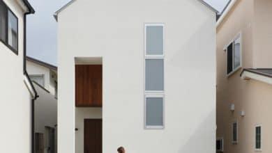 Photo of Planos de casa de dos pisos con diseño de fachada e interiores de lineas sencillas y modernas