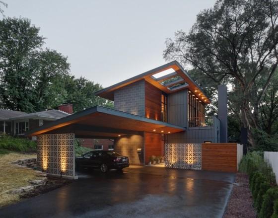 Diseño de fachada de moderna casa pequeña