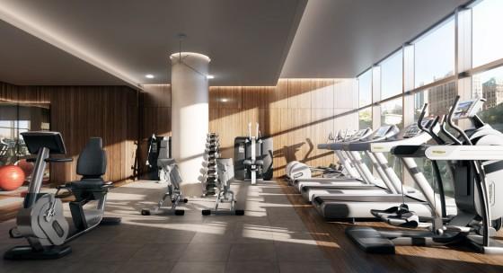 Diseño de gimnasio en apartamento de lujo