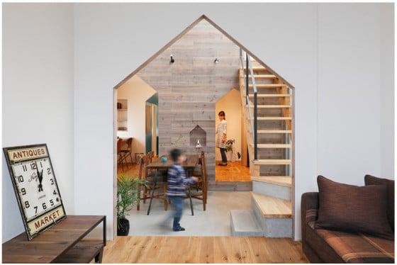 Diseño de interiores de casa de dos pisos