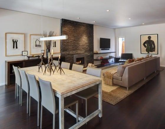 Diseño de interiores de la sala elegante con poco dinero