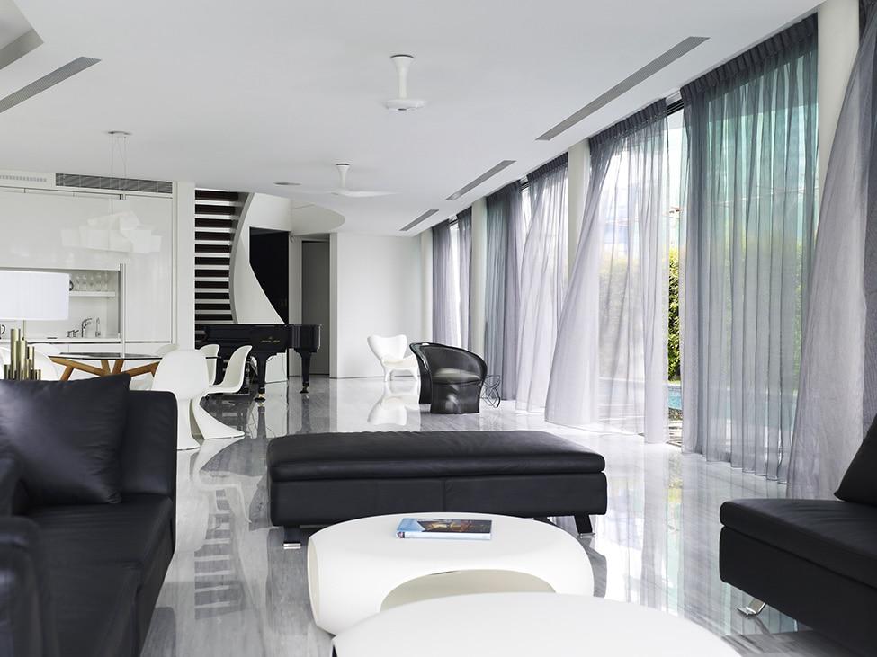 Dise o de moderna casa de dos pisos con azotea jard n - Diseno de pisos ...