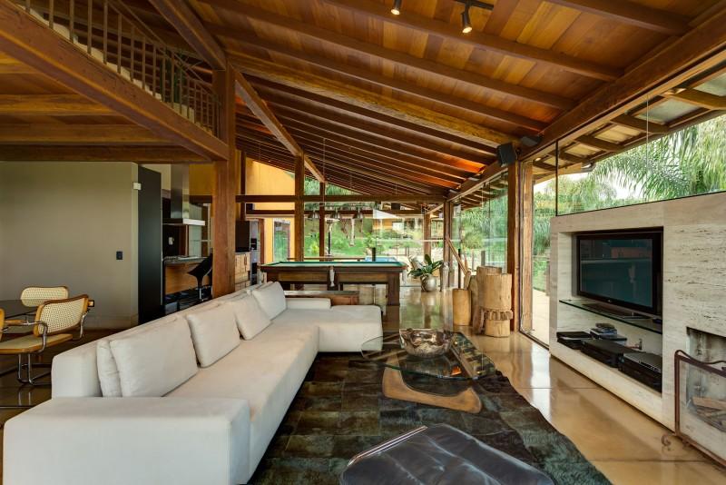 Dise o de casa de campo planos interior y fachadas - Interior casas de madera ...