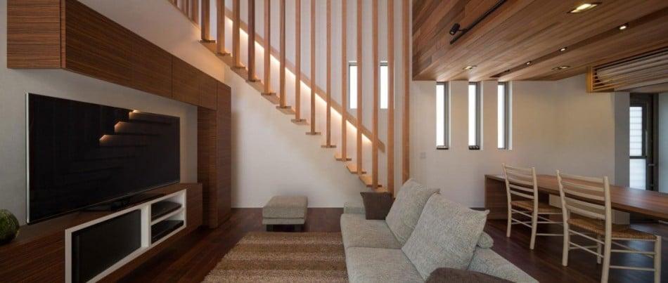 Dise o de moderna casa de dos plantas con planos de vivienda for Diseno de pisos interiores