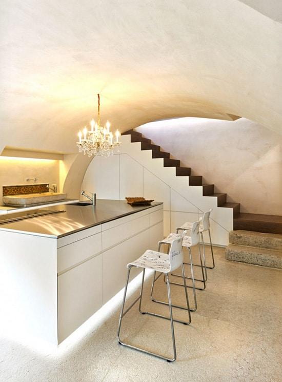 Decoraci n de interiores r stico y moderno combina dise o for Diseno islas de cocina