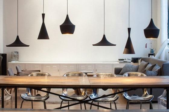 Diseño de lámparas de loft estilo industrial