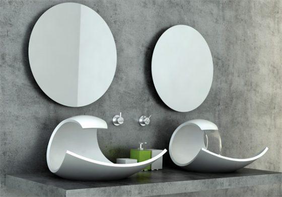 Diseño de lavabo moderno color blanco