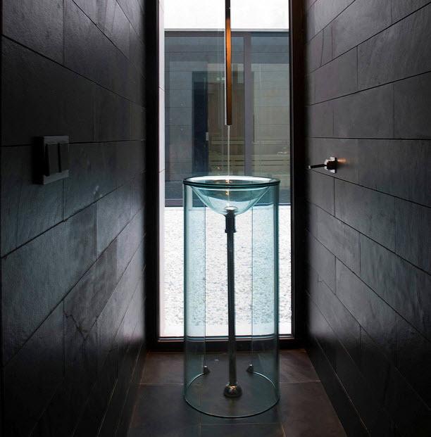 Dise os de lavabos para ba os originales y exclusivos - Encimeras de cristal para lavabos ...