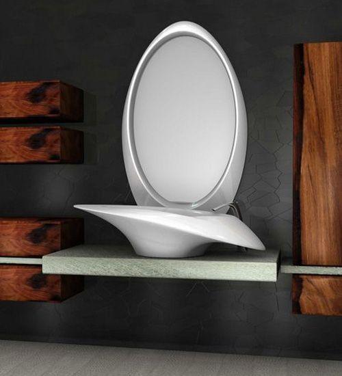 Diseño de lavatorio moderno color blanco