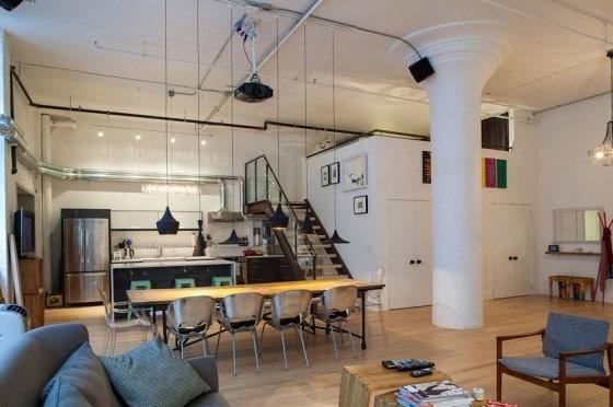 Diseño de loft estilo industrial