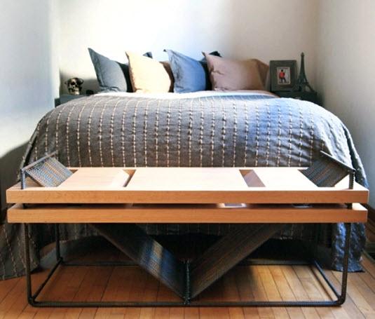 Dise o de muebles con materiales reciclados y r sticos - Mesas para dormitorio ...