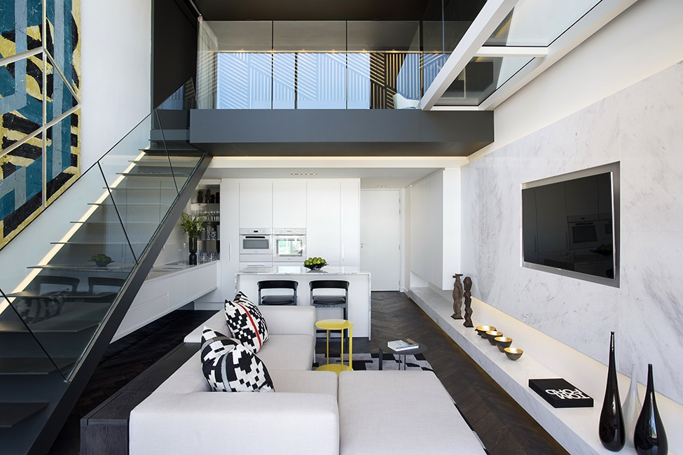 Dise o de minidepartamento moderno interiores elegante for Salas departamentos modernos