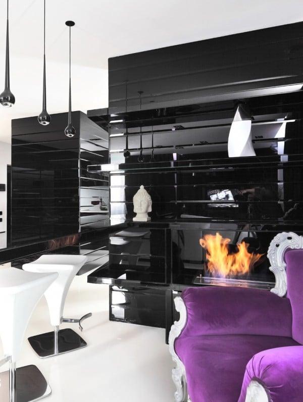 Dise 241 O De Moderno Apartamento En Color Blanco Y Negro