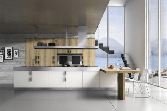 Diseño de moderna cocina pequeña