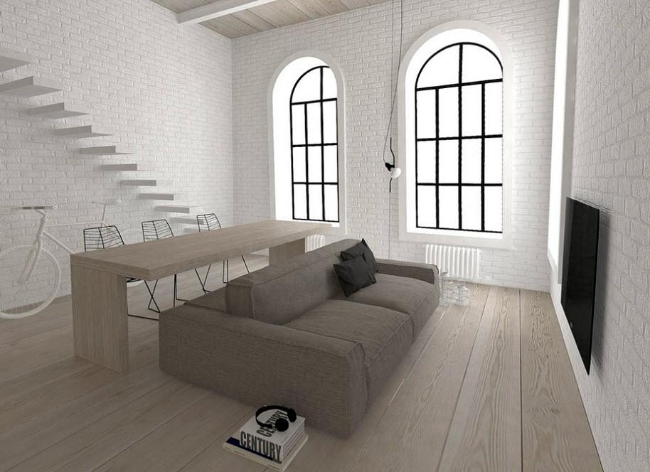 Planos de apartamentos peque os de uno y dos dormitorios - Comedores modernos para espacios pequenos ...