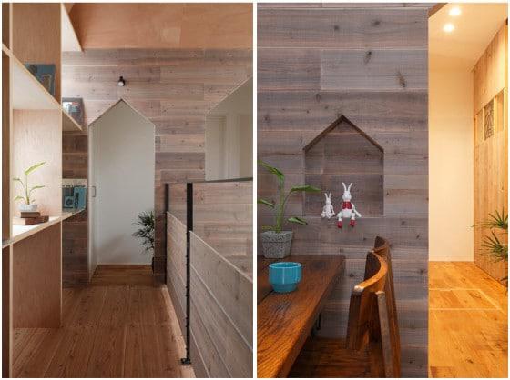 Diseño de pasadizos modernos de madera