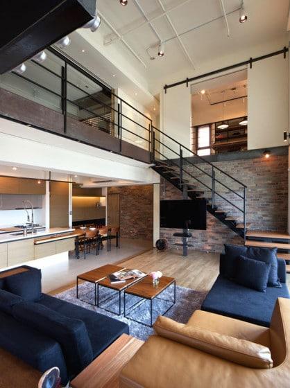 Diseño de pequeño apartamento en almacen