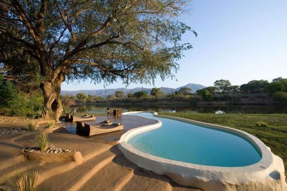 Diseño de piscina rústica