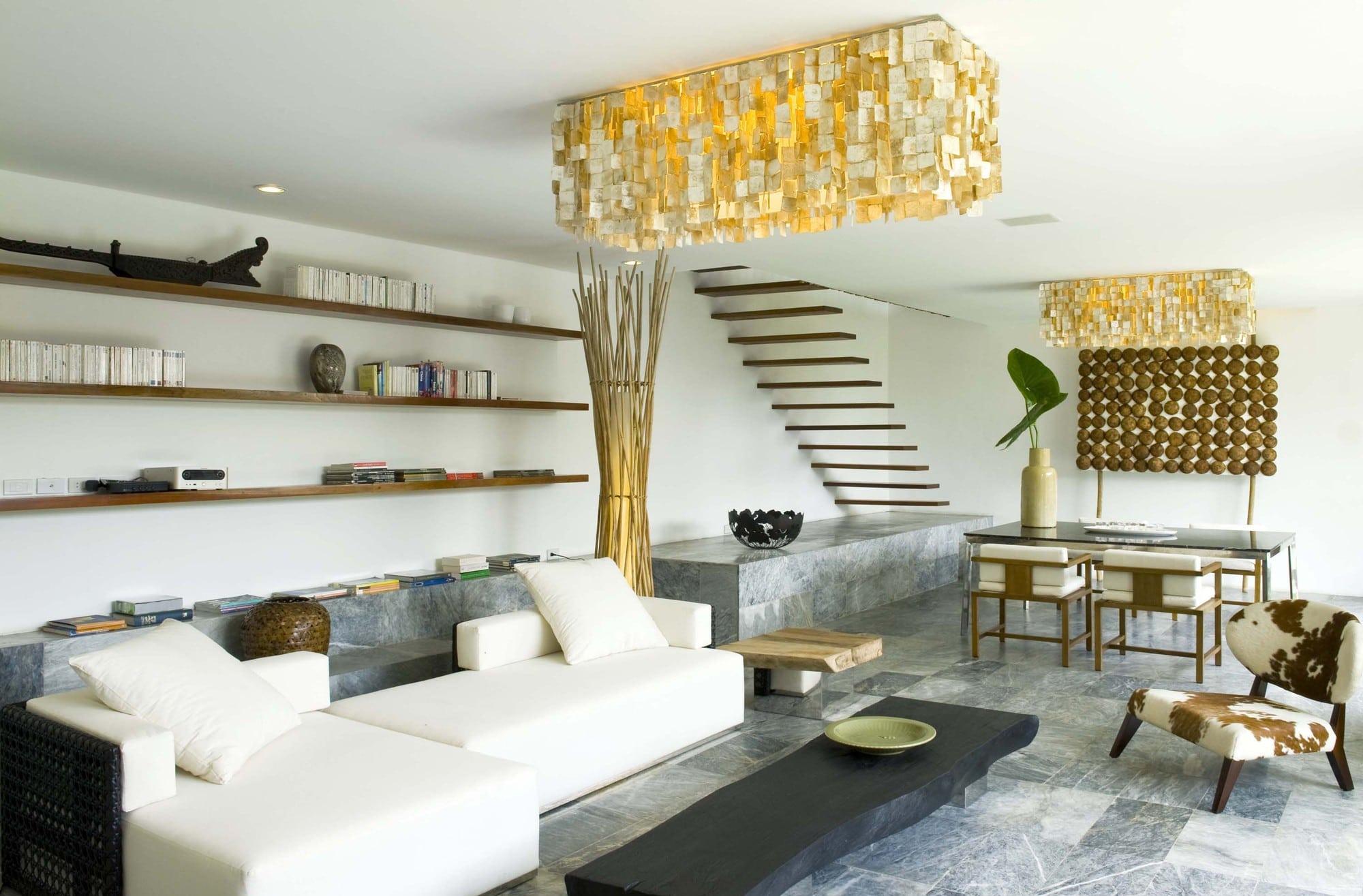 Dise o de casa r stica fachada interiores y planos for Diseno de interiores sala de estar comedor