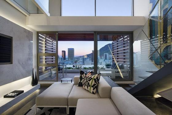 Diseño de sala de mini apartamento