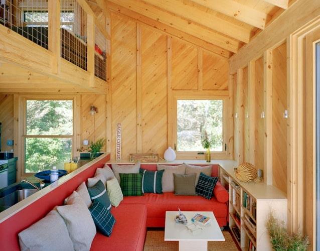 Casa peque a de campo dise o de fachada e interiores for Diseno de interiores para casas pequenas