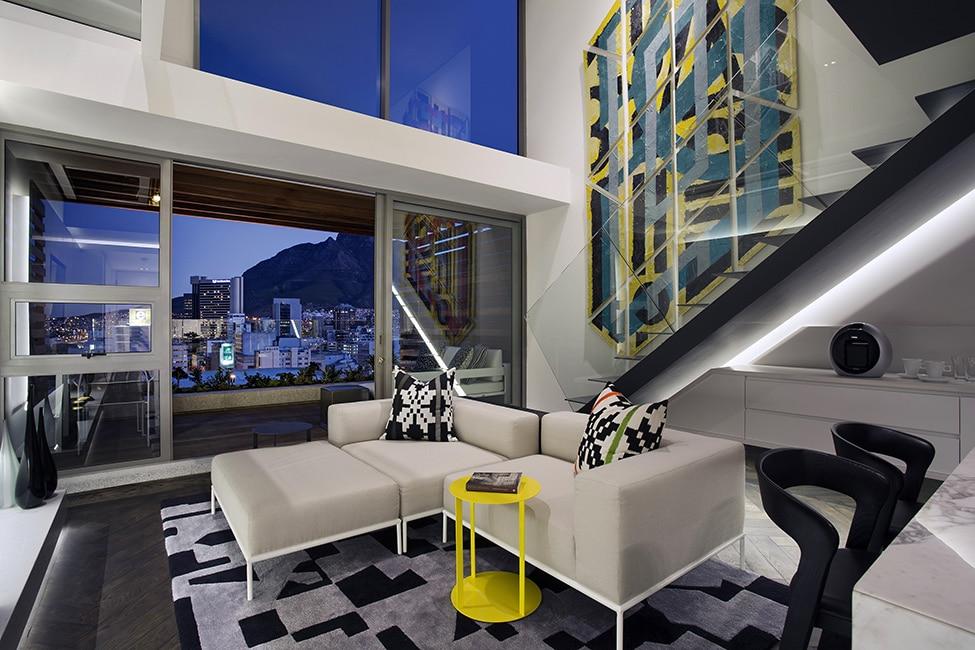 Dise o de minidepartamento moderno interiores elegante for Decoracion de departamentos modernos fotos