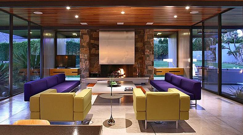 Dise o de casa grande con piscina de leonardo dicaprio for Sala de estar de mansiones