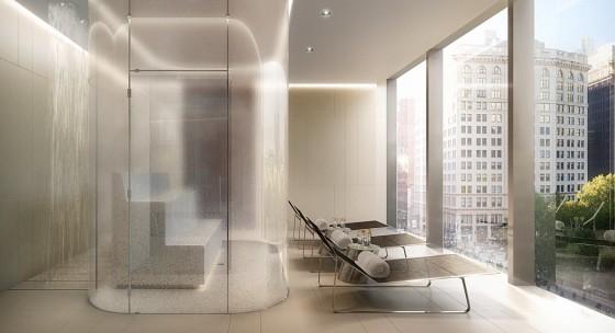 Diseño de spa en apartamento de lujo