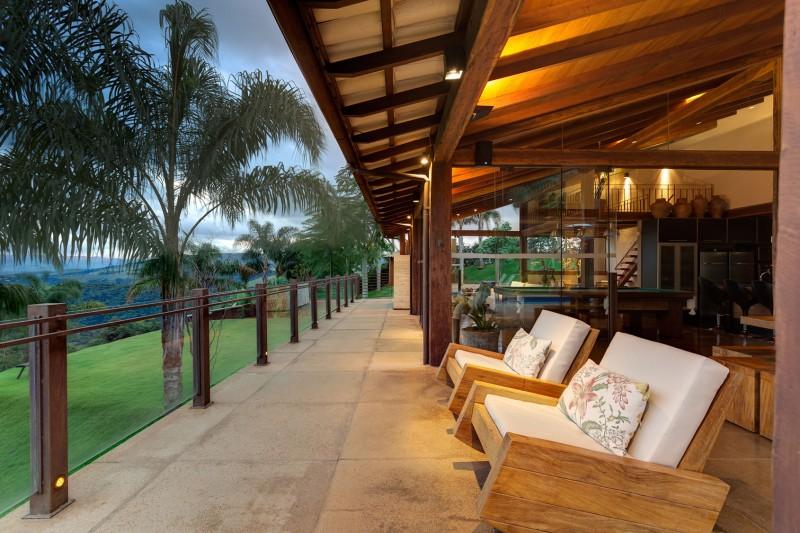 Dise o de casa de campo planos interior y fachadas for Modelos de casas con terrazas modernas