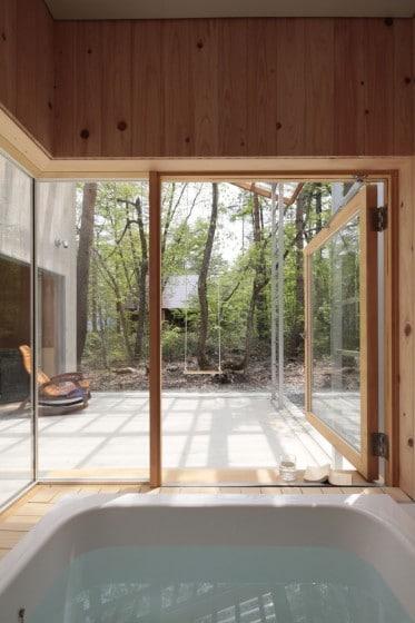 Diseño del cuarto de baño de casa todo climas