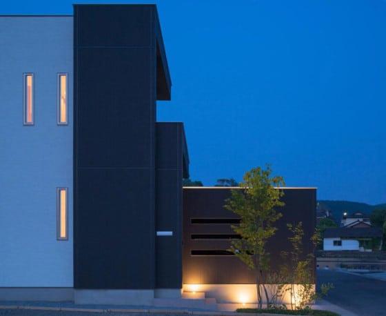 Diseño del perfil de la casa moderna